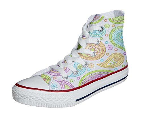 Converse All Star Hi chaussures Personnalisé et imprimés UNISEX (produit artisanal) Colorful Paisley size 33 EU