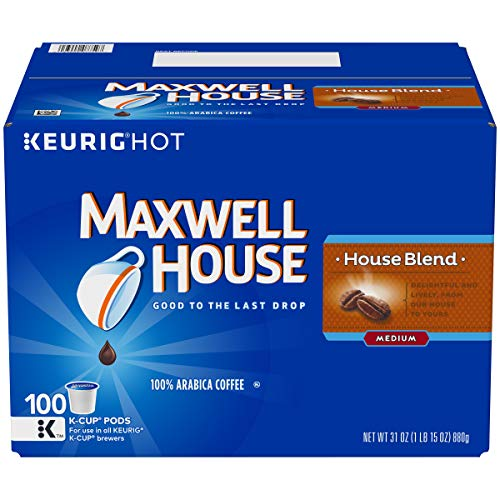 Maxwell House House Blend Coffee K-Cup Pods, 100 Count ()