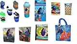 Finding Dory Nemo 5 pack Socks PLUS Calculator Set Notebook Folders Flip n Sip Container and Reusable Tote Bag