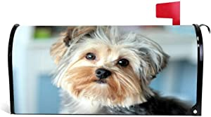 """VinMea Animals Mailbox Cover, Yorkshire Terrier, Face, Handsome, Well-Groomed Magnetic Mailbox Cover Wraps Post Box Yard Garden Decor Standard Sized 21""""X 18"""""""