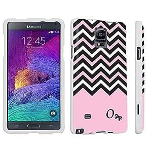 For Case HTC One M7 Cover Hard Case White - (Black Pink White Chevron O)