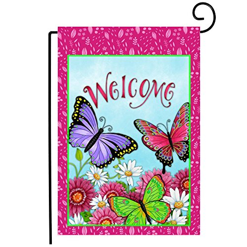 Dreamlevel Welcome Garden Flag, 12.5