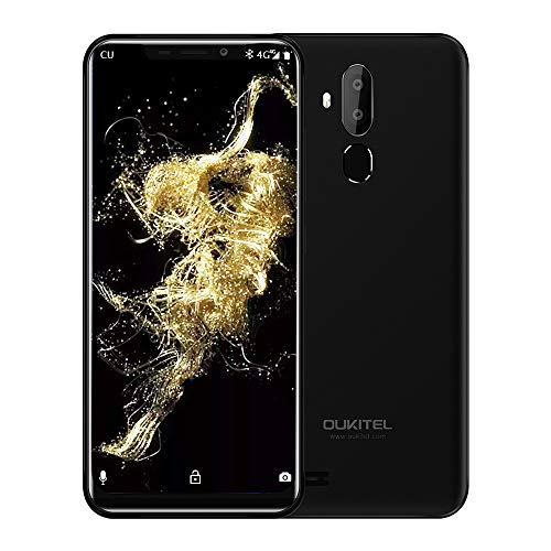 OUKITEL C12 Unlocked Cell Phones Dual SIM Mobile Phone 6.18 Inch 19:9 Full-Screen Display 3300mAh Battery Global 3G Android 8.1 Smartphone Quad Core 2GB + 16GB Fingerprint & Face Unlock, Black (Best Quad Core Android Phone)
