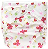 Charlie Banana 2-in-1 6-Piece Reusable Diapers, Butterfly, X-Small