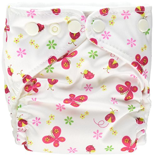 Charlie Banana 2-in-1 6-Piece Reusable Diapers, Butterfly, X-Small by Charlie Banana
