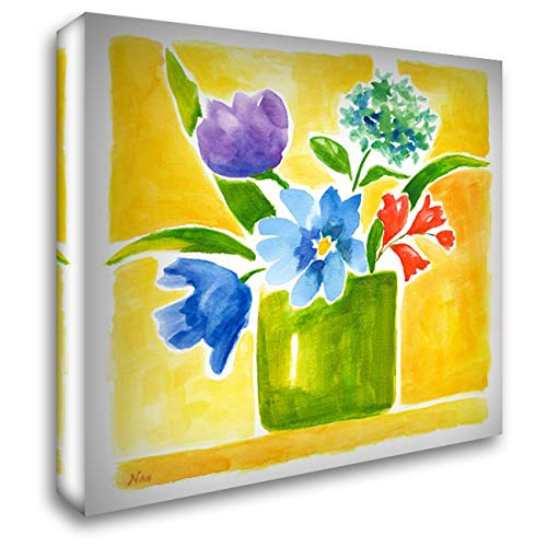 Sunny Day Bouquet III 48x48 Extra Large Gallery Wrapped Stretched Canvas Art by Nan