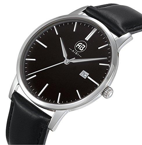 Fendior Waterproof Ultra-thin Simple Large Face Mens Quartz Wristwatch with Date - Men Thin Face