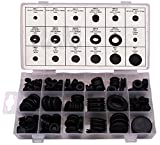 RAM-PRO 125 Piece Rubber Grommet Eyelet Ring Gasket Assortment, Set of 18 different sizes, with See-through Divided Organizer Case – Ideal for Automotive, Plumbing, and PC hardware/Piano repair etc.