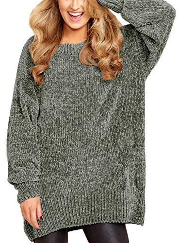 HOTAPEI Women's Casual Baggy Velvet Knitted Long Sleeve Mate