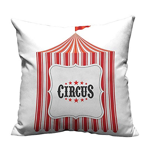 Slumber Bag Circus - YouXianHome Lovely Cushion Covers Circus Tent Flagpole Classic Festival Childish Joy Leisure Themed Illustration Art Resists Stains(Double-Sided Printing) 20x20 inch
