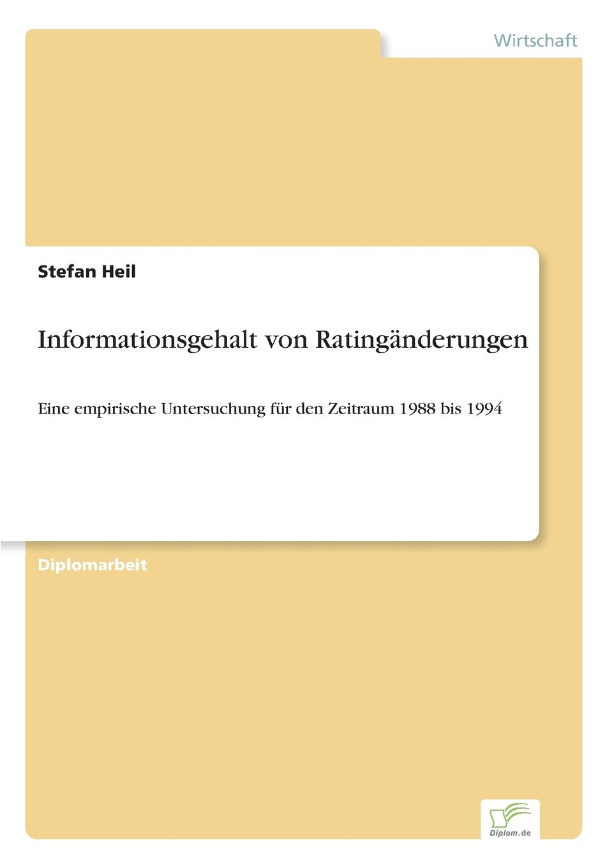 Download Informationsgehalt von Ratingänderungen (German Edition) pdf