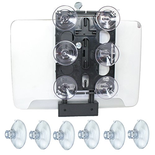 Livestream Gear - Suction Cup Tablet and Phone Mount for Streaming, Video, or Photos. Great for Glass or Mirror. Use for WOD; Fitness Streams at Home, or Gym. Super Strong.
