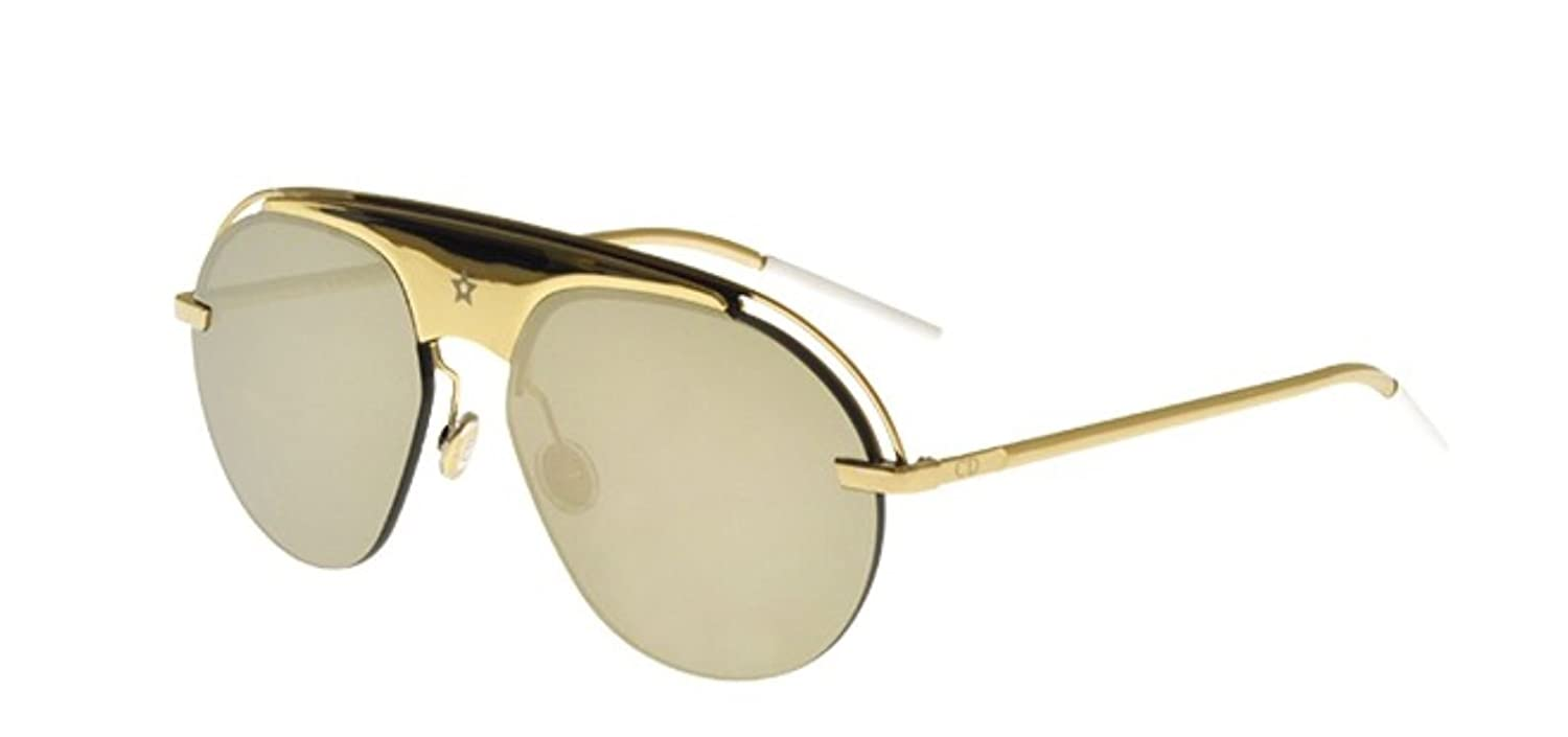 326266dcc29 Amazon.com  New Christian Dior DIO(R)EVOLUTION 2 J5G QV Gold Grey Gold  Sunglasses  Clothing