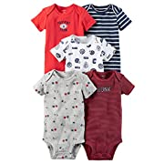Carters Baby Boys 5 Pack Bodysuits (Baby) Sports/Hunk, 3 Months