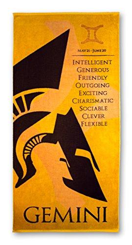 Blanket Statements Zodiac Beach Towels, Oversized Plush, Astrology Horoscope (Gemini)