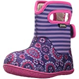 Bogs Baby Bogs Waterproof Insulated Toddler/Kids Rain Boots for Boys and Girls, Pansy Stripe Print/Violet/Multi, 6 M US Toddler
