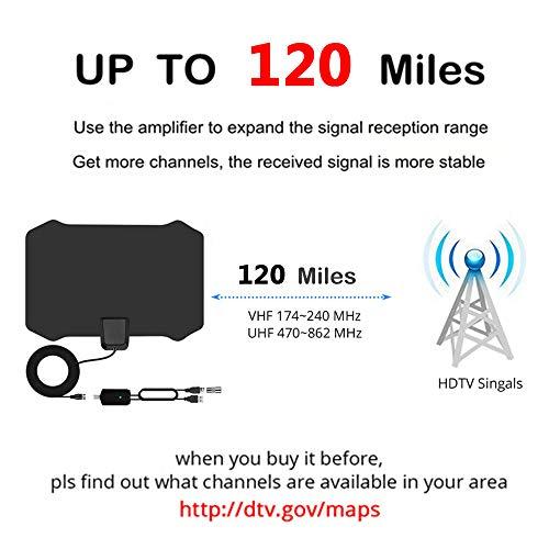 NCVI TV Antenna 2019 Upgraded,85 to 100 Miles Digital HDTV Antenna with Amplifier Signal Booster TV Radius Surf Fox Antenna HD TV Antennas