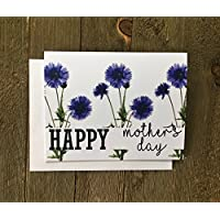 Mother's Day Card with Cornflowers