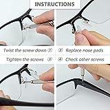 Mr.Zz Eyeglasses Nose Pads, Upgraded Soft