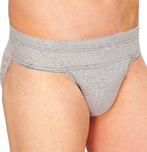 CP Bigbasket Gym Cotton Supporter Back Covered with Cup Pocket Athletic Fit Brief Multi Sports Underwear for Gym, Fitness, Cricket & Outdoor Inner Wear Soft Underpants (Grey) Size XL