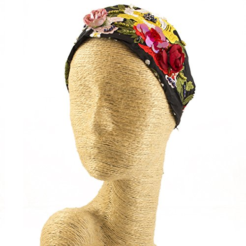 Flower Fascinator, Silk Headbands, Millinery, Worldwide Free Shipment, Delivery in 2 Days, Head wrap, Bohemian Accessories, Headpieces, Head dress, Kentucky Derby Hat, Gift Box, Multicolor by Elipeacock