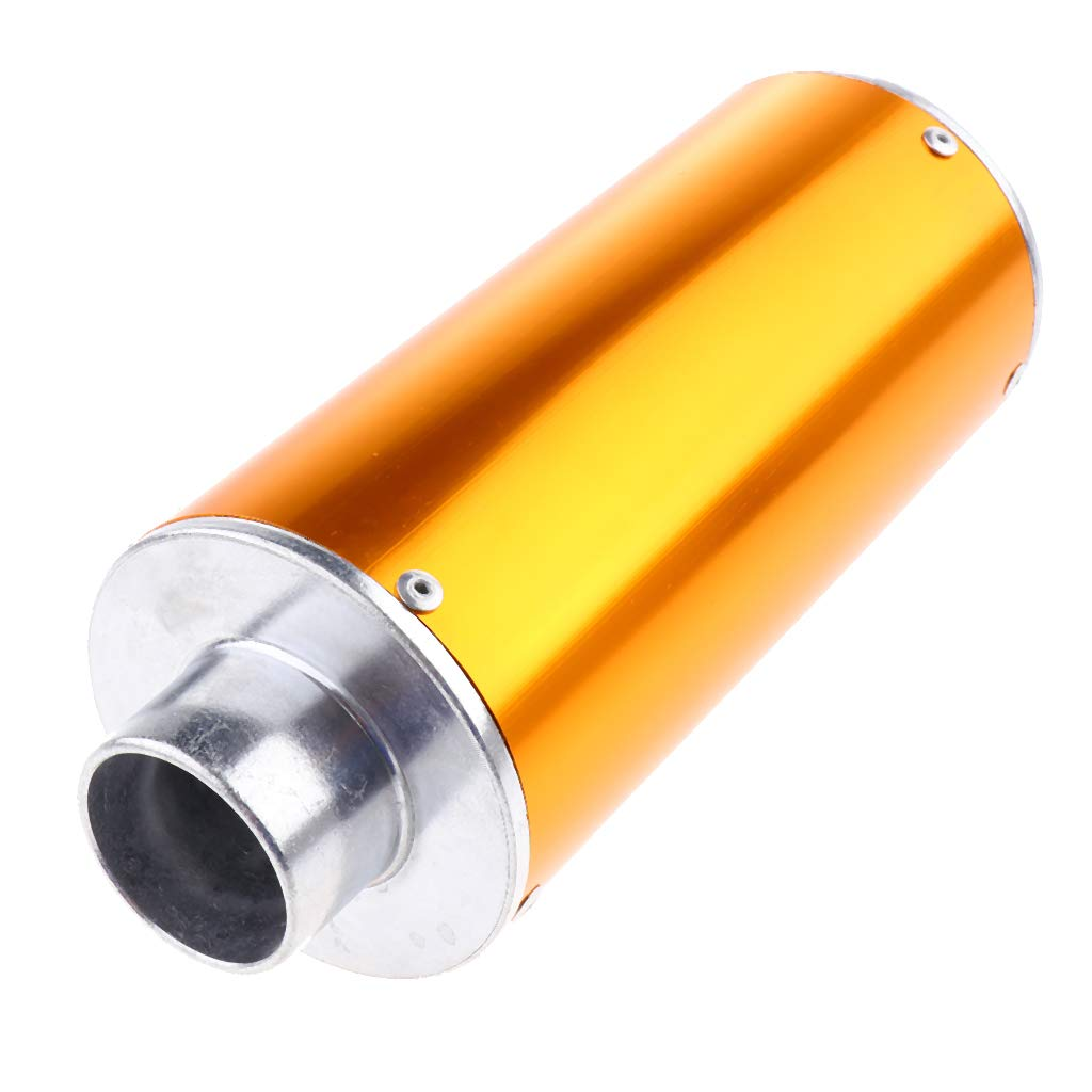 Shiwaki Exhaust Muffler Carbon Fiber for Street Sport Motorcycles and Scooters with 28mm Diameter Exhaust Pipes Orange