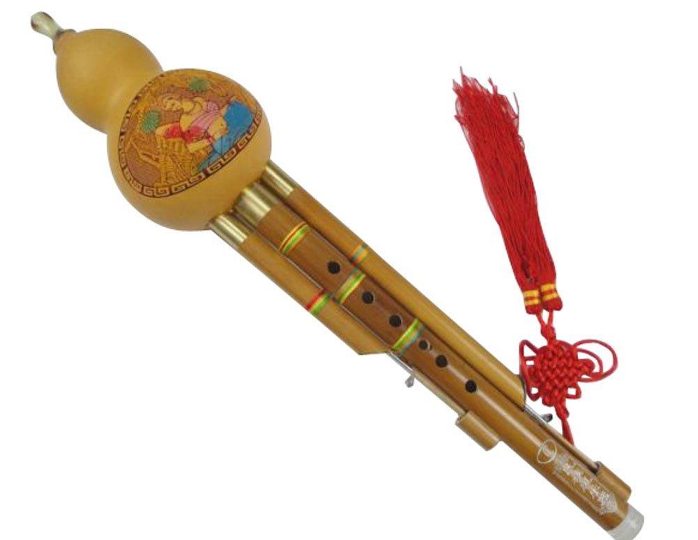 竹3オクターブ中国葫蘆絲フルートウッドウィンド#103 +ケース+遊びガイド B0784LBC75 F MinorF Minor