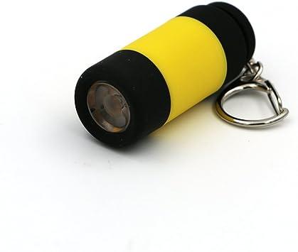 Mini Portable LED Torch Lamp Pocket USB Rechargeable Keychain Keyring Flashlight