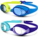 2-Pack OutdoorMaster Kids Anti-Fog Swimming Goggles