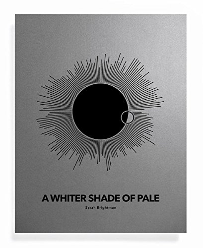 REVOLVE Sound Wave Art Print - A Whiter Shade of Pale - Special Gift Ideas for Guys - 11 x 14 Unframed Wall Decor for Sarah Brightman Fan or Office Decor swp (Shade Starburst)