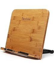 Readaeer składany bambusowy stojak do czytania, uchwyt na książkę kucharską, do kuchni i biura