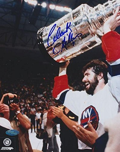 Clark Gillies Signed Photograph - CUP 8X10 - Steiner Sports Certified - Autographed NHL Photos