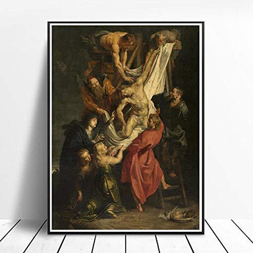 CNHNWJ Peter Paul Rubens Religion Pinturas Arte Poster Impresiones Clasico Inicio Decoracion Sala Pared Cuadros Corredor HD De la Lona 40x60cm Sin Marco