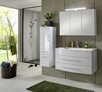 Sam Design Badmobel Set Basel 3 Teilig In Weiss 100 Cm Exklusives