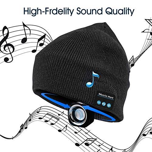 Bluetooth Beanie,Best Gifts for Men/Women,Bluetooth Hat Wireless Headphones Headset Music Hat for Outdoor Sports,Running…