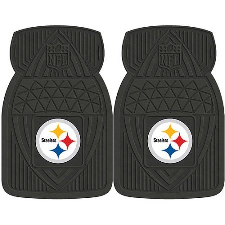 NFL 4-Piece Front #36572613 and Rear #19888903 Heavy-Duty Vinyl Car Mat Set, Pittsburgh Steelers by Sports Licensing Solutions LLC