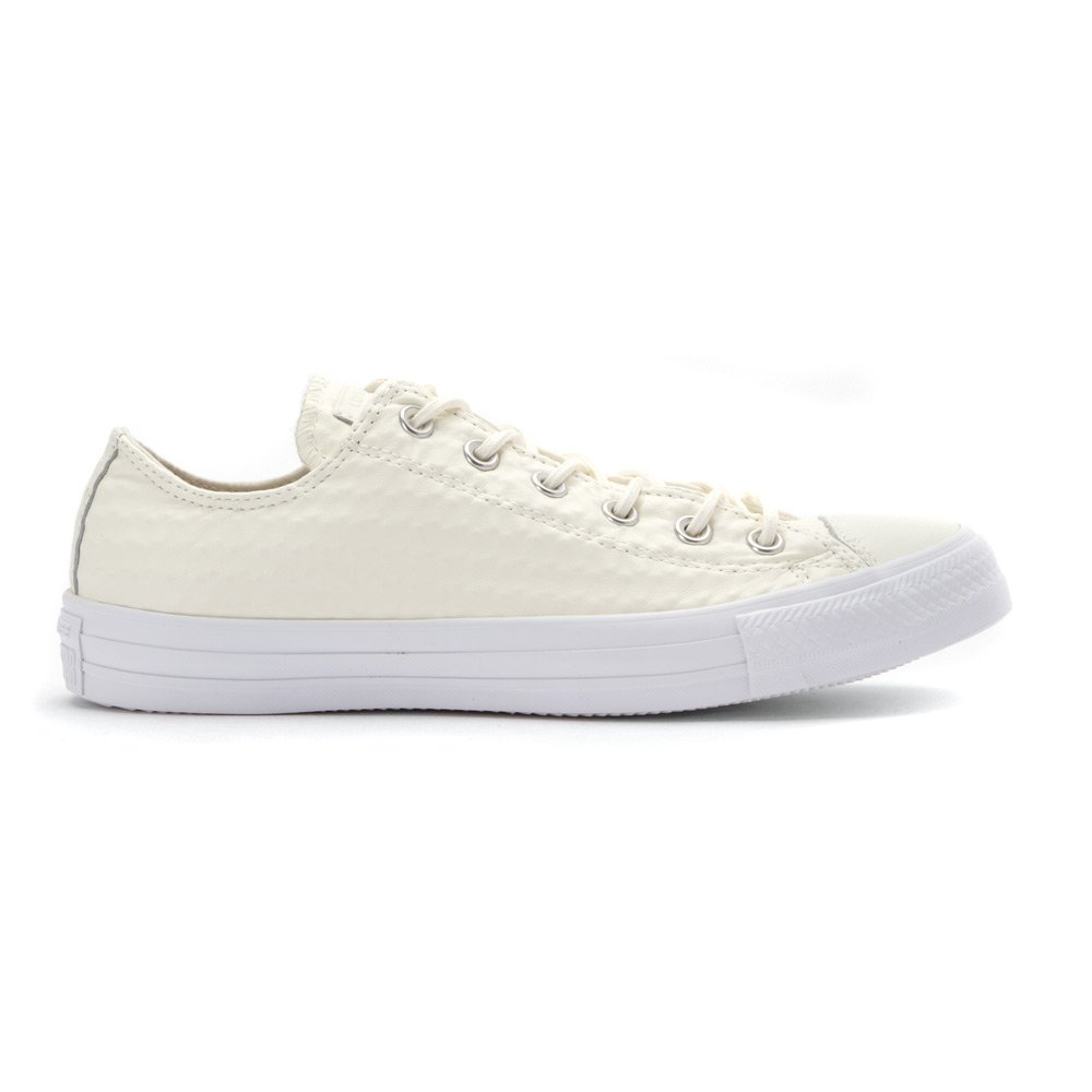 9abd7ef102d4f Converse Women s Baskets Converse Chuck Taylor All Star Ox Cuir Craft Blanc  Femme Trainers Size  5 UK  Amazon.co.uk  Shoes   Bags
