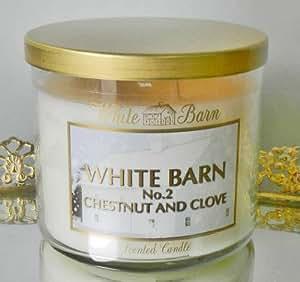 Bath & Body Works White Barn 4 Oz. Small Candle White Barn Chestnut & Clove