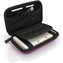 iGadgitz Purple EVA Hard Travel Carry Case Cover for New Nintendo 3DS XL (All versions) & 2DS XL 2017 with Clip On Carry Strap