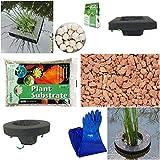 Floating Pond Planter Kit Medium Pond, 4 Baskets, Gloves, Substrate & Fertilizer