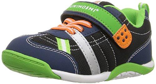 TSUKIHOSHI Boys' Kaz Sneaker, Navy/Green, 12 M US Little Kid