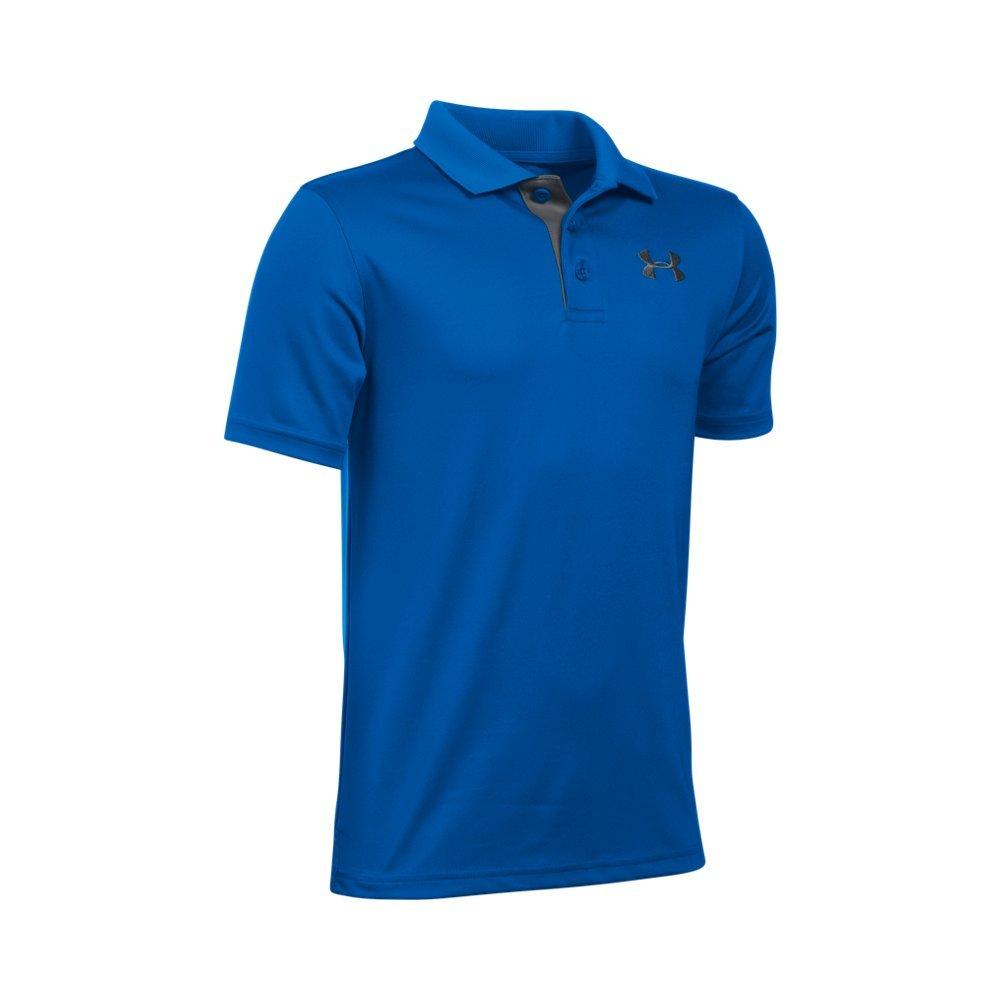 Under Armour Boys' Match Play Polo, Ultra Blue /Graphite, Youth Medium