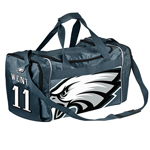 FOCO Philadelphia Eagles Carson Wentz #11 Core Duffel Bag by FOCO