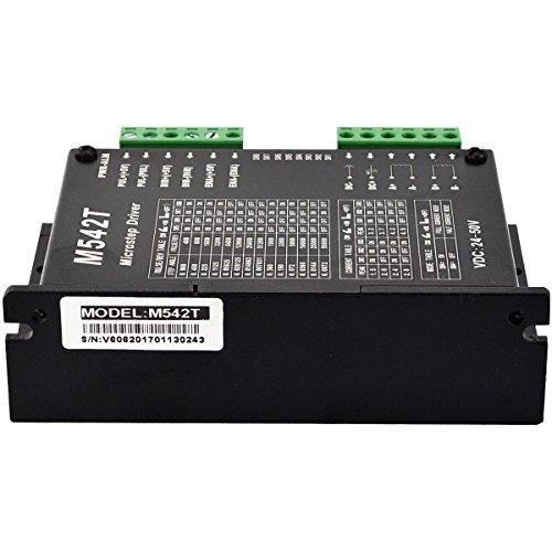 Stepper Motor Driver 1.5A-4.5A 24-50VDC 256 Microstep to Nema 17,23,24 CNC M542T