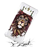 Galaxy S10e Case, for S10e 5.8'', MerKuyom Lightweight [Clear Crystal Transparent] Slim-Fit Flexible Gel Soft TPU Case Cover for Samsung Galaxy S10e 5.8-inch, W/Stylus (Brown Lion)