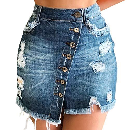 Women's Denim Mini Skirt Summer Plus Size Shorts Summer Casual Skirt Teresamoon ()