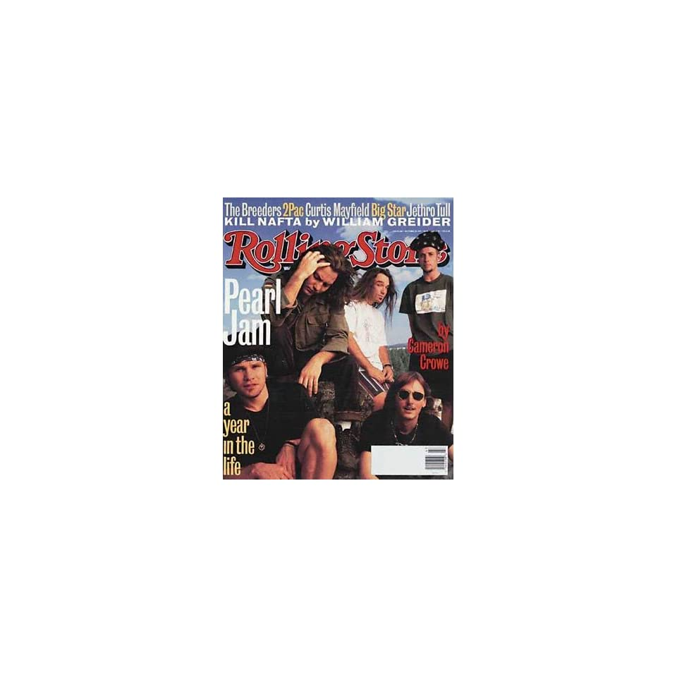 Rolling Stone Magazine, Issue 668, October 1993, Pearl Jam Cover