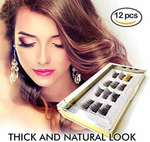 affa1a81a5e 12 PCS Upgraded Magnetic Eyelashes, Best Magnetic Eyelashes, Ultra Thin  Dual Magnetic Eyelashes,