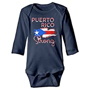 Love Puerto Rico Puerto Rico Strong Baby Boys Girls Long Sleeve Bodysuits Romper 6 M