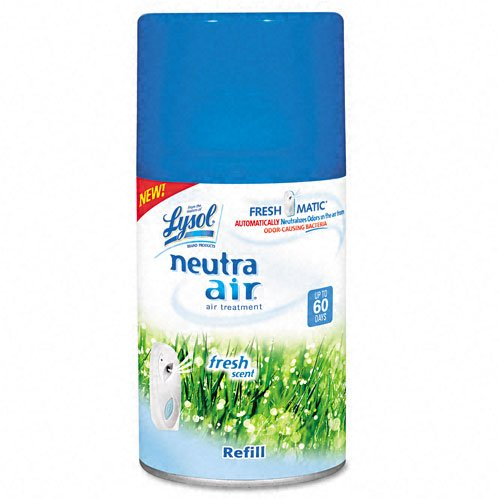 Reckitt Benckiser : Neutra Air Freshmatic Refill, Fresh Scent, Aerosol, 6.2 oz -:- Sold as 2 Packs of - 1 - / - Total of 2 Each (6.2 Ounce Aerosol)